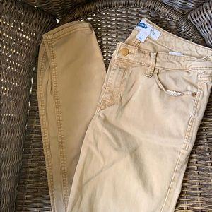 Old navy rockstar skinny khakis